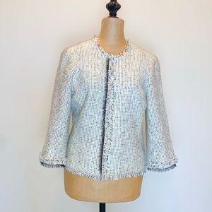 White House Black Market tweed jacket #3428